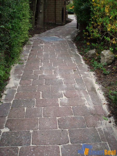 path washed & re-sanded
