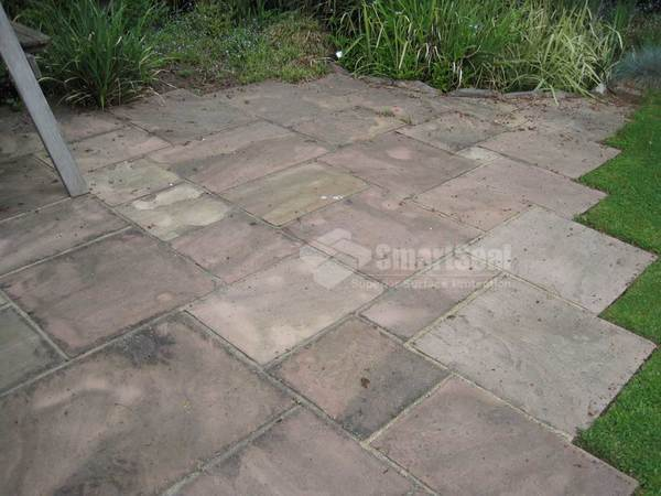 Indian sandstone after a year