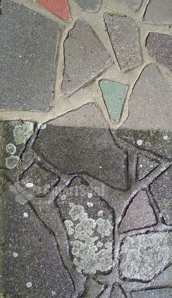 Crazy paving during cleaning